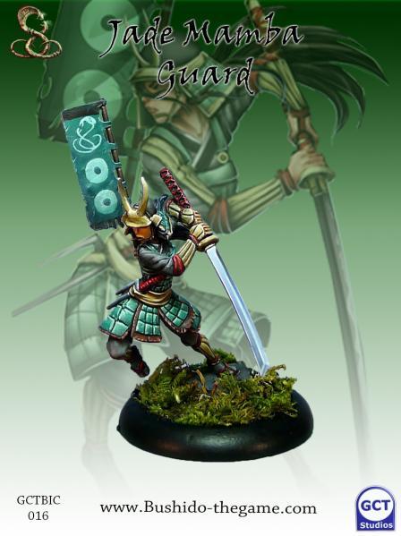 Bushido Miniatures: (Ito Clan) Jade Mamba Guard