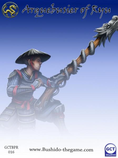 Bushido Miniatures: (Prefecture Of Ryu) Arquebusier Of Ryu