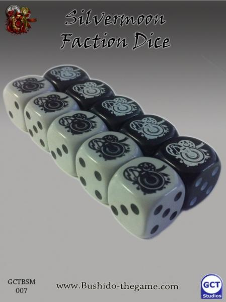 Bushido Miniatures: (Silvermoon Trade Syndicate) Faction Dice (10)
