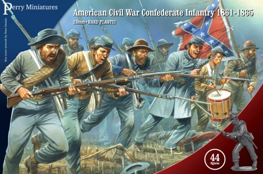 28mm American Civil War: (Confederate) Infantry 1861-65