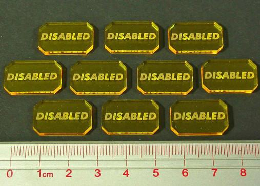 Space Wing: Disabled Tokens (10)
