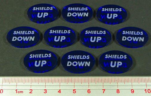 Space Wing: Shields Up-Down Tokens (10)