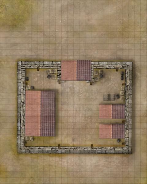 Savage Worlds RPG - Weird Wars: Rome Map Frontier Fortress/Village