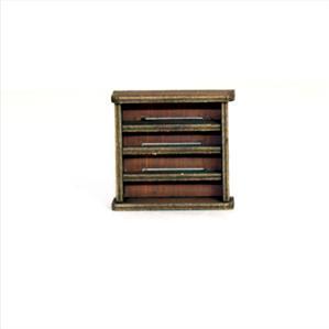 28mm Furniture: Light Wood Small Bookshelf