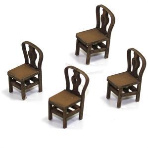28mm Furniture: Light Wood Fiddle Back Chair