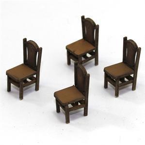 28mm Furniture: Light Wood Sheaf Back Chair