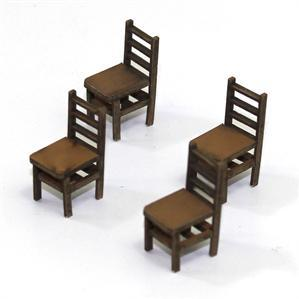 28mm Furniture: Light Wood Ladder Back Chair (B)