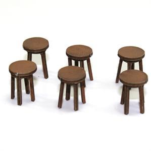 28mm Furniture: Light Wood Bar Stool