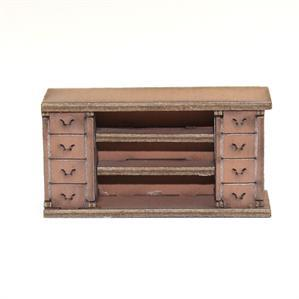 28mm Furniture: Light Wood Straight Counter