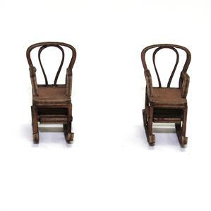 28mm Furniture: Light Wood Bentwood Rocking Chair