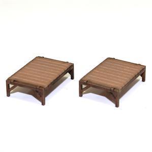 28mm Furniture: Light Wood Palet Beds