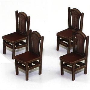 28mm Furniture: Medium Wood Sheaf Back Chair