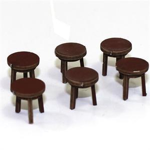 28mm Furniture: Medium Wood Stool (B)