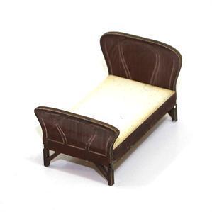 28mm Furniture: Medium Wood Single Wood Bed