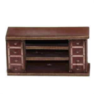 28mm Furniture: Medium Wood Straight Counter