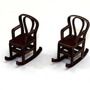 28mm Furniture: Medium Wood Bentwood Rocking Chair