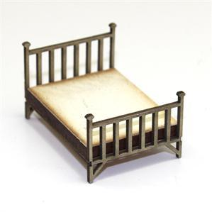 28mm Furniture: Double Brass Bed