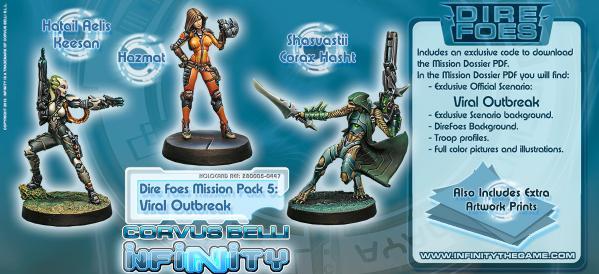Infinity (#447) Dire Foes Mission Pack 5: Viral Outbreak (Tohaa vs Shasvastii)