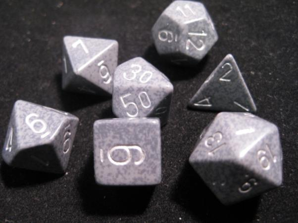 Chessex RPG Dice Sets: Hi Tech Speckled Polyhedral 7-Die Set