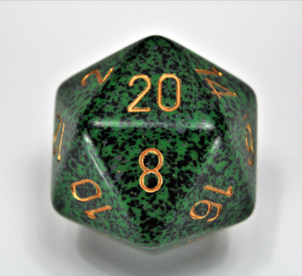 Chessex Special Dice: Golden Recon Speckled 34mm d20 (1)
