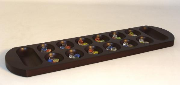 Mancala: 22'' Walnut Stained