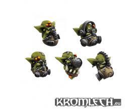 Kromlech Conversion Bitz: Orc Gasmask Heads (10)