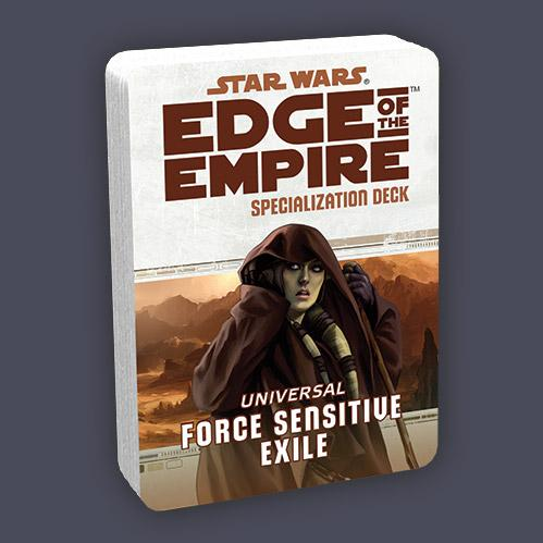 Edge of the Empire RPG: Specialization Deck - Force Sensitive Exile