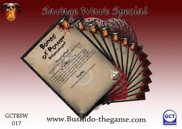 Bushido Miniatures: (Savage Wave) Card Pack 1