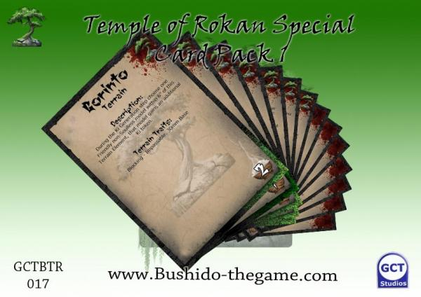 Bushido Miniatures: (Temple Of Ro-Kan) Card Pack 1